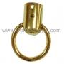 หูท่อต่อห่วงวงกลม (ที่ใส่สาย หูกระเป๋า) ชุปทอง เงา 3.2 ซม.