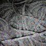 เชือกร่ม แซมดิ้นรุ้ง7สี สีเทาอ่อน